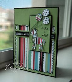 Zebra Wish using Stampin Up Zoofari retired stamp set.