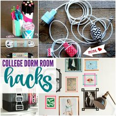 I have some AWESOME College Dorm Room Hacks for you if you're headed to college or if you've got a kid headed to college! Dorm Hacks, College Hacks, College Organization, Organization Ideas, Organizing, Dorm Room Designs, Dorm Life, College Life, College Dorm Rooms