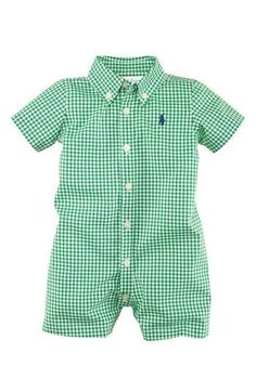 Ralph Lauren Gingham Romper (Infant) if I have a boy, this is the FIRST thing I'll buy. Cutest thing ever. https://presentbaby.com #bohobabyclothes