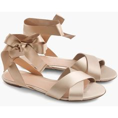 J.Crew Satin Cross-Strap Sandals (€150) ❤ liked on Polyvore · Sandali ... 33fa59dcef5