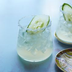 Cucumber Margarita | The only thing more refreshing than a margarita is one made with cucumbers. The cucumber-infused tequila also makes a great punch.