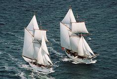 """L'""""Etoile"""" et la """"Belle-Poule, Topsail Schooners of the French Navy"""