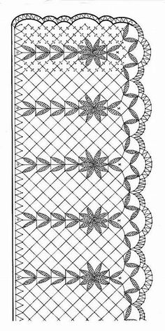 Puntilla para chal   Patrones de Bobbin Lacemaking, Bobbin Lace Patterns, Lace Heart, Point Lace, Lace Jewelry, Needle Lace, Ribbon Work, Lace Making, Sewing Stores