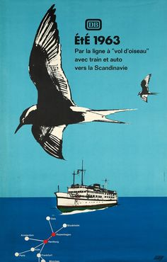 Oslo, Stockholm, Amsterdam, Paris, Vintage Posters, Boat, Movies, Movie Posters, Bird Flying