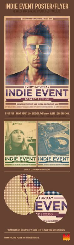 Indie Event Flyer/Poster by moodboy , via Behance