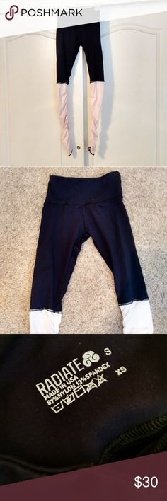 Unique Radiate highwaisted dancer  leggings Unique Radiate activewear highwaisted dancer leggings. Rushed light pink bottom half. Size extra small/small. Excellent condition. Bundle for a discount 🎁 Radiate Other