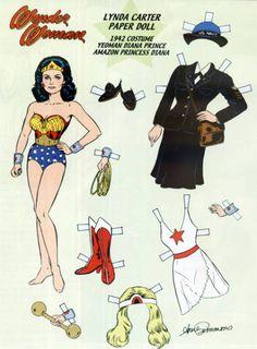 Wonder Woman Lynda Carter Paper Doll