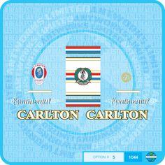 carlton sign company | Carlton Continental Bicycle Decals - Transfers - Set 5 | eBay