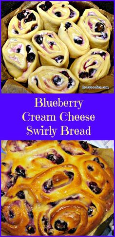 BLUEBERRY CREAM CHEESE SWIRLY BREAD .... oh my! Serious soft, sticky ...