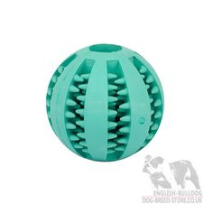 rubber ball for english bulldog dental care, for more useful items visit our site