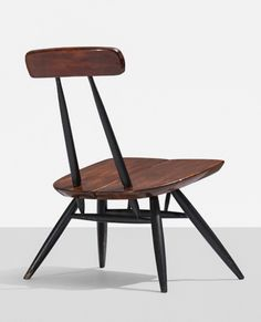 ILMARI TAPIOVAARA, Pirkka lounge chair by Laukaan Puu, Finland, 1956. Lacquered pine, lacquered wood. / Wright20