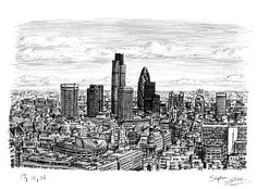 Stephen Wiltshire - London City Skyline