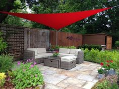 Kookaburra 5m Triangle Red Waterproof Woven Shade Sail