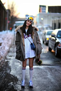 #MingXi about to go skiing or skate boarding or something fun #offduty. In on the secret in #NYC.