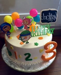 Team Umizoomi Happy Birthday Cake