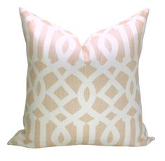 Schumacher Imperial Trellis pillow cover in Blush by sparkmodern