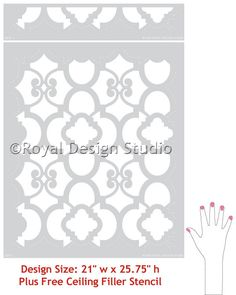 Moroccan Wall Decor Stencil Chez Ali by royaldesignstencils, $52.00