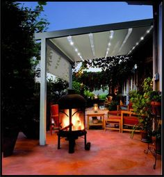 Shop for installation of beautiful retractable, stationary and Pergola style fabric awnings to shade the heat of the sun on your deck at Milanese Remodeling Small Pergola, Pergola Attached To House, Deck With Pergola, Covered Pergola, Backyard Pergola, Patio Roof, Pergola Roof, Wooden Pergola, Deck Landscaping