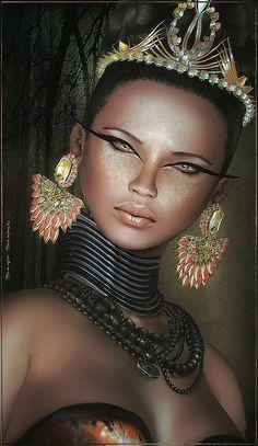 Ngozi~Miss Essence of Ebony 2012, via Flickr. Second Life