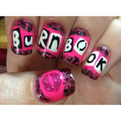 Burn Book Nails. ❤ liked on Polyvore