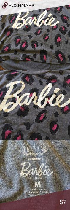 Barbie crop top Pink cheetah pink grey crop top Tops Crop Tops