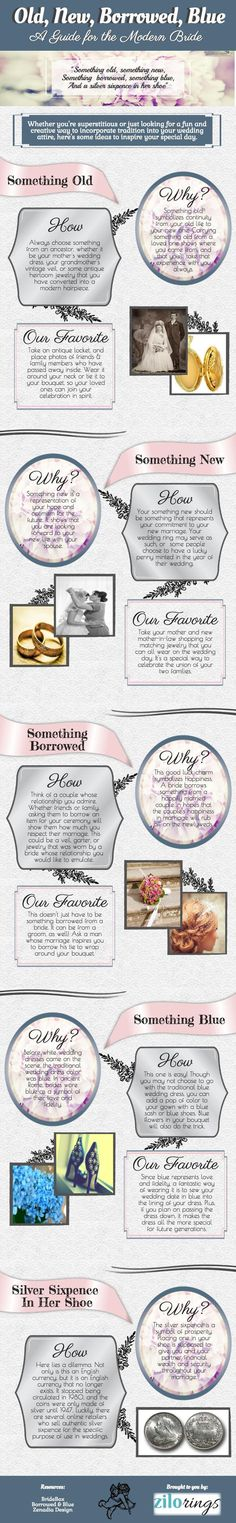 Something Old, New, Borrowed & Blue [Wedding Infographic] - http://ZiloRings.com