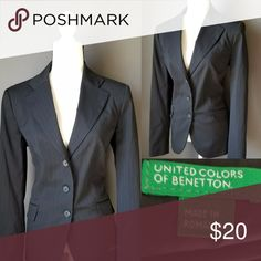 UNITED COLORS OF BENETTON Work wear blazer Very nice structed three button blazer.  Size 48 which is a XL in Alpha Sizing United Colors Of Benetton Jackets & Coats Blazers