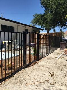 Because aluminum fences are powder coated, they'll never rust, chip or fade, making them a popular choice for pool fencing and properties on the coast. They look great in any sized yard, and provide security and containment without losing out on a beautiful view. Aluminum Fence, Pool Fence, Mossy Oak, Fence Design, Fencing, Rust, Looks Great, Powder, Yard