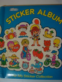 Sticker books from the 80s