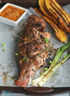 Caribbean Grilled Whole Red Snapper