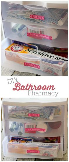 DIY Bathroom Pharmacy - This simple DIY is an affordable way to help you save your limited bathroom space and stay organized.