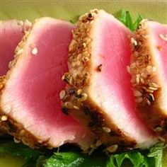 Grilled macadamia-crusted tuna