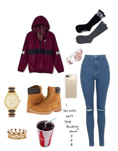 """""""Untitled #218"""" by kayla-2003 on Polyvore featuring Victoria's Secret, Topshop, Timberland, Kate Spade, Bochic, Speck and Beats by Dr. Dre"""