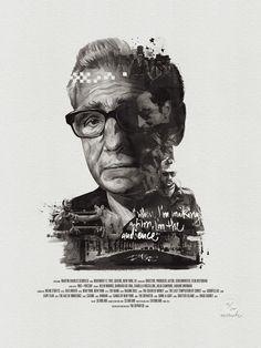 "Movie Director Portrait Print, Martin Scorsese by Stellavie & Julian Rentzsch   (get 20% off with code ""Celebrate-20"")"