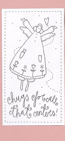 use embroidery patterns to make cards with and stitch around the edge.