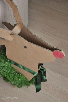 DIY: Un Reno de cartón. - Manualidades para Navidad - Manualidades para niños - Charhadas.com