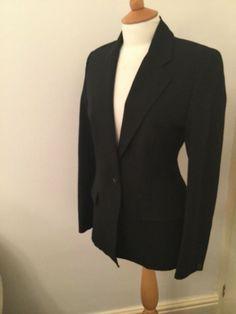 cf111dacf9f6 Karen Millen fitted Black Jacket size 10 Hobbs Shoes