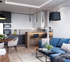 Importance Of Open Concept Kitchen Living Room Small House Interior Design 51 - sitihome Small Apartment Interior, Small House Interior Design, Small Apartment Design, Small Room Design, Kitchen Room Design, Modern Kitchen Design, Living Room Kitchen, Home Decor Kitchen, Interior Design Kitchen