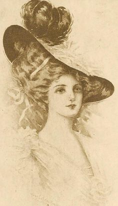 Victorian Lady in Hat