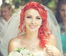 Orange hair. Bride