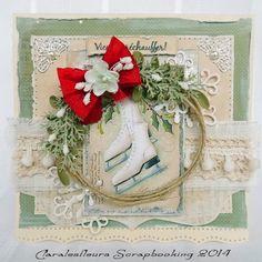 Claralesfleurs Scrapbooking: Galerie - cartes hiver/Noël