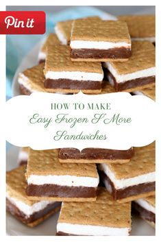 Easy Frozen S'More Sandwiches Home Made Cookies Recipe, Paleo Cookie Recipe, Delicious Cookie Recipes, Dessert Recipes, Desserts, Bagels Sandwich, Sandwich Bar, Sandwich Recipes, Zuchinni Chocolate Chip Cookies