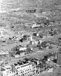 The city of Stalingrad in the summer of 1943. Ruined completely during the battle, Stalingrad was left with a few standing structures all of which were thoroughly gutted during the fighting.