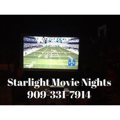 We rent outdoor inflatable movie screens. Backyard movie night. 909-331-7914 Www.StarlightMovienights.com Www.facebook.com/StarlightMovieNights
