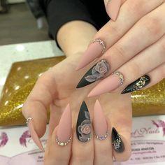 nails - and Beautiful Nail Art Designs Glam Nails, Matte Nails, Pink Nails, Nude Nails, Red Nail, Black Nail, Beauty Nails, Coffin Nails, Beauty Makeup
