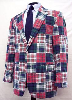 356c4f4aba1 O'Connell's Mens, O'Connell's Sport Coat - Cotton Madras - Patchwork Enjoy  this standout jacket, a summer time classic.- Traditional non-darted lapel  rolled ...
