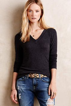 V-Neck Layer Tee - anthropologie.com