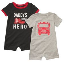 Carter's 2pc Romper Set, Fire Fighter