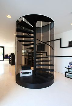 Webmail :: 18 more ideas for your stairs board You are in the right place about home design cheap ti Staircase Design Modern, Home Stairs Design, Modern Stairs, Interior Stairs, Home Room Design, Modern House Design, Home Interior Design, House Staircase, Staircase Railings