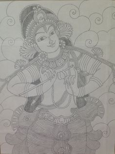 Mural Pencil Drawings is the oldest application form of good arts and also also plays a serious function in other forms involving visual art like oil . Kalamkari Painting, Krishna Painting, Madhubani Painting, Buddha Kunst, Buddha Art, Kerala Mural Painting, Indian Art Paintings, Art Drawings Sketches Simple, Pencil Drawings